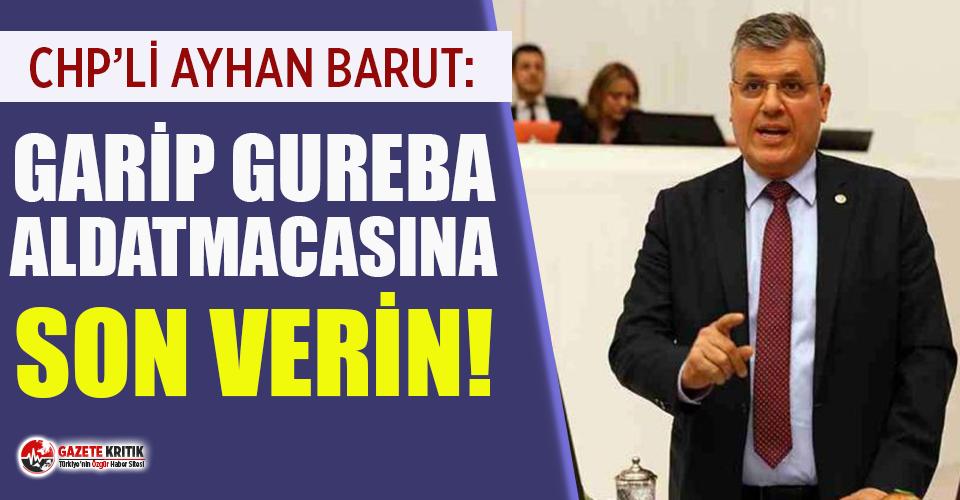Ayhan Barut, ekonomik krize çözüm üretilmesi için iktidara seslendi!