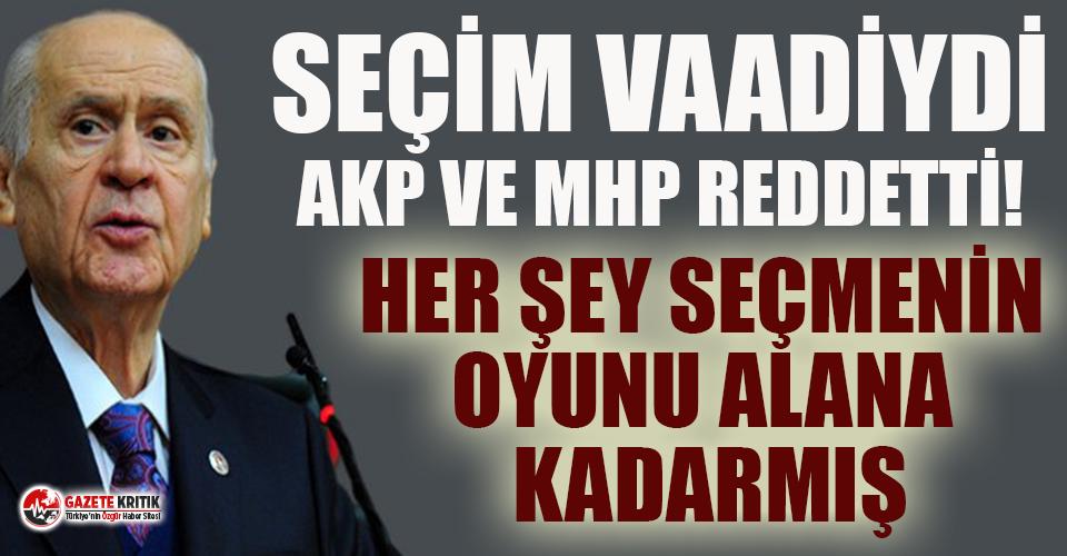 Bahçeli'nin seçim vaadiydi, AKP ve  MHP Meclis'te reddetti