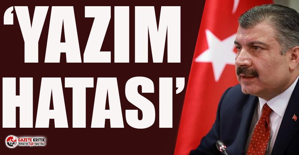Bakan Koca'dan 'İlk vaka Şubat ayında görüldü' iddiasına sehven açıklaması!