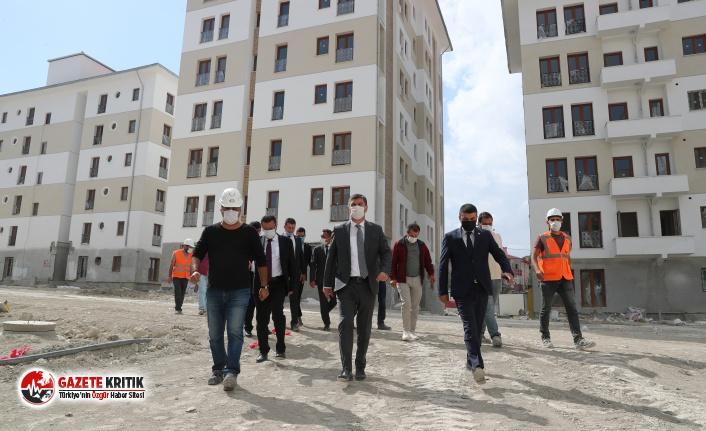 Başkan Ercengiz, Burdur Belediyesi ve TOKİ işbirliği ile yapım çalışmalarına başlanan konutları inceledi