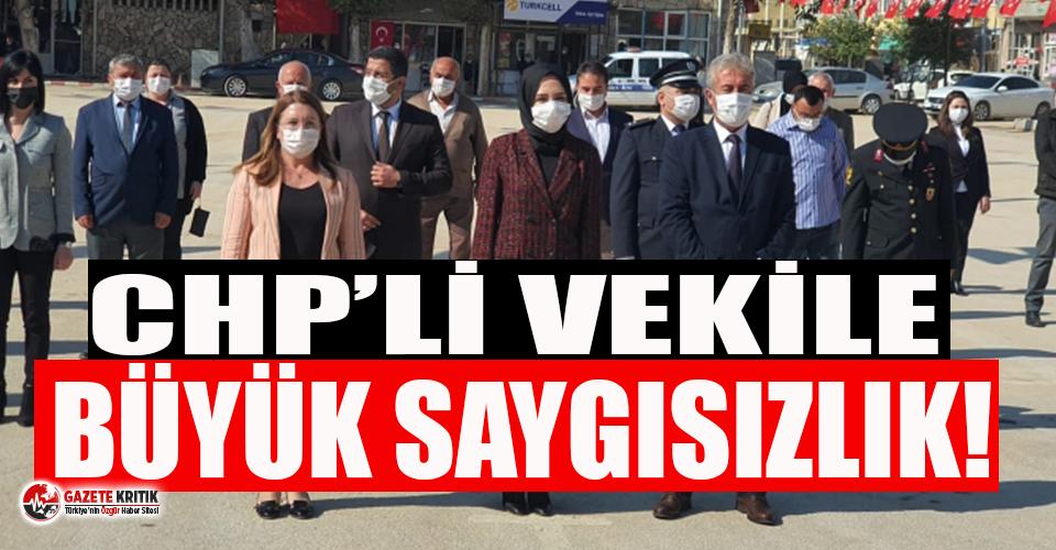 CHP'li vekile 29 Ekim töreninde büyük saygısızlık!