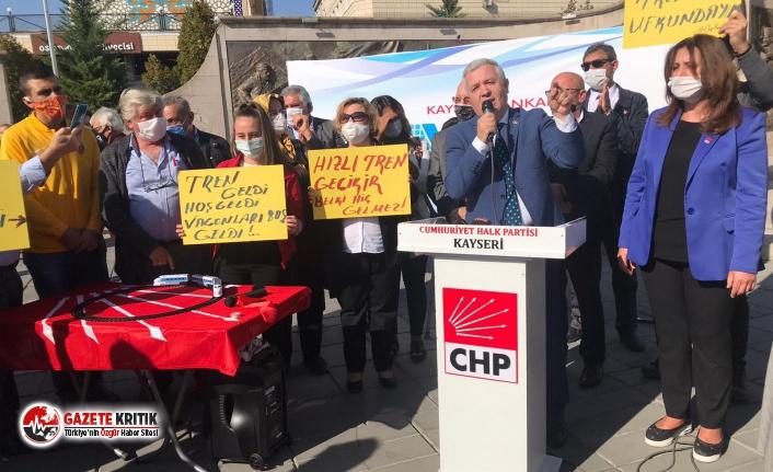 CHP'li Arık: ' Kaplumbağa geldi tren hala yok''