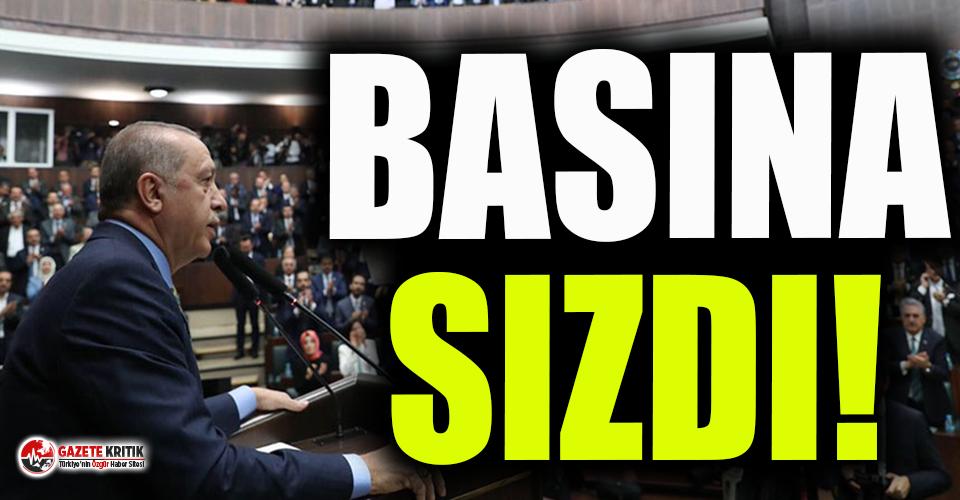 Erdoğan üst üste 3 kez aynı talimatı verdi, o toplantı basına sızdı!