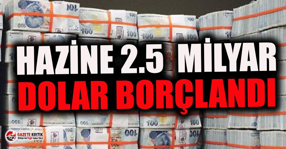 Hazine 5 yıl vadeli eurobond ile 2.5 milyar dolar borçlandı