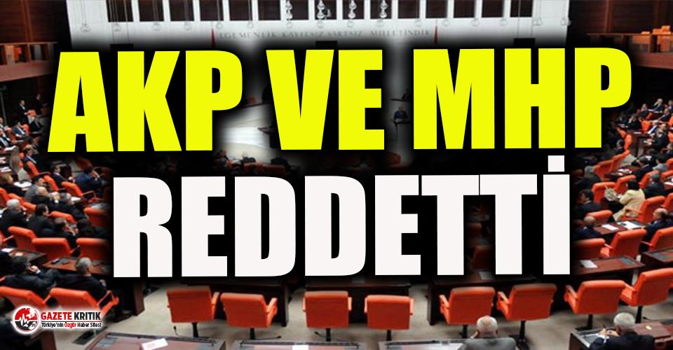 HDP'nin Kobani eylemleri için verdiği önergeyi AKP-MHP reddetti