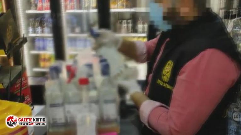 İstanbul'da tonlarca kaçak içki yakalandı