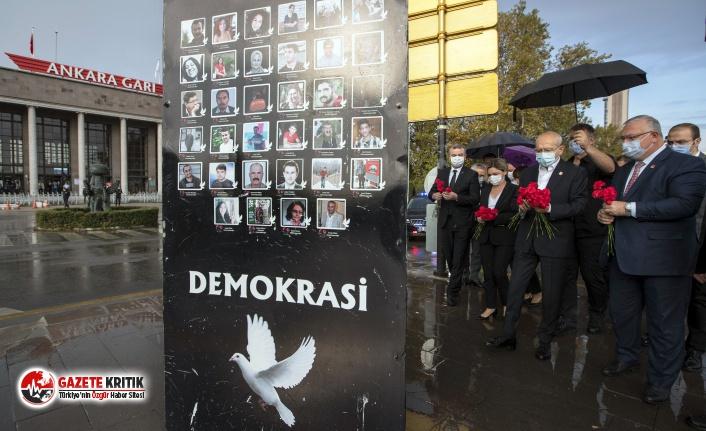 Kemal Kılıçdaroğlu 10 Ekim anmasına katıldı