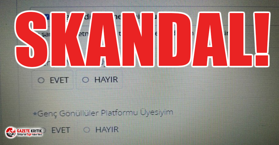 KYK burs başvurusunda  'AKP'ye üye misin?' sorusu!