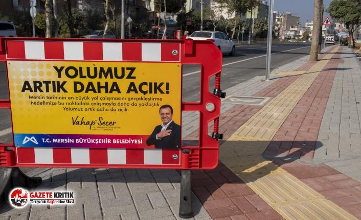 Mersin Büyükşehir, Rıfat Uslu Caddesi'ni duble yol olarak hizmete açtı