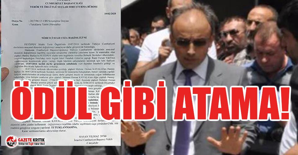 Osman Kavala'nın iddianamesini hazırlayan savcıya ödül gibi atama!