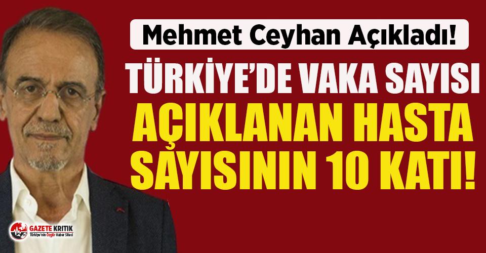 Prof. Dr. Ceyhan: ''Türkiye'de vaka sayısı hasta sayısının 10 katı''