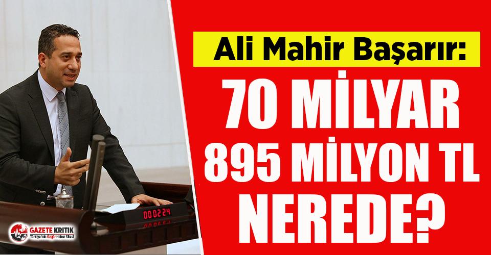 CHP'li Ali Mahir Başarır. 21 yıldır toplanan deprem vergilerinin nereye harcandığını sordu