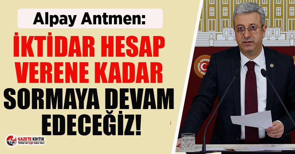 CHP'li Antmen deprem vergilerinin peşini bırakmıyor!