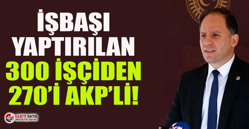 CHP'li Yavuzyılmaz, AKP torpilini ortaya çıkardı!