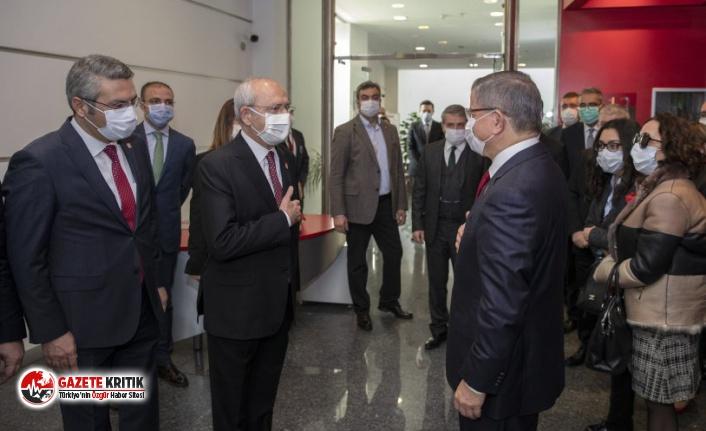 CHP lideri Kemal Kılıçdaroğlu, Ahmet Davutoğlu'nu kabul etti