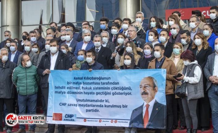 CHP'lilerden Kılıçdaroğlu'na yönelik tehdit içerikli yazıya tepki!