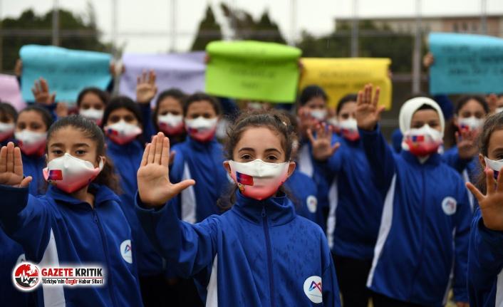 Çocuklardan ortak mesaj: ''Hayır deme hakkımız var, haklarımıza dokunma!''