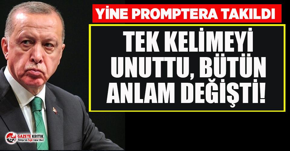 Erdoğan yine promptera takıldı! Kadına Yönelik Şiddetle Mücadele Günü'nde büyük gaf...