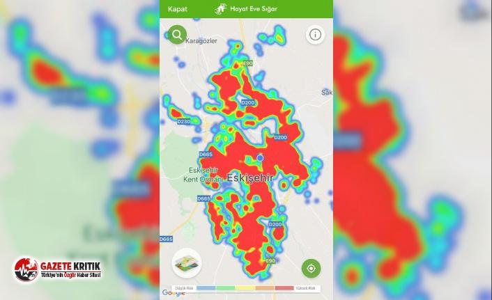 Eskişehir'de koronavirüs haritası kırmızıya büründü!