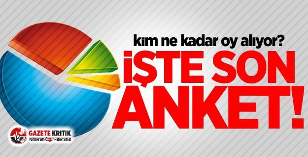 İşte Erdoğan'ın en güçlü rakibi ve partilerin oy oranları!