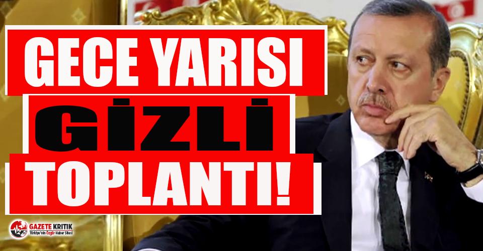 İstifa sonrası Erdoğan'dan gece yarısı 'gizli' toplantı!