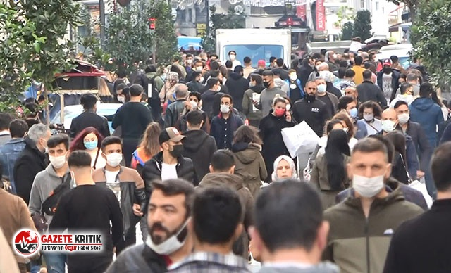 İstiklal Caddesi'nde korkutan kalabalık