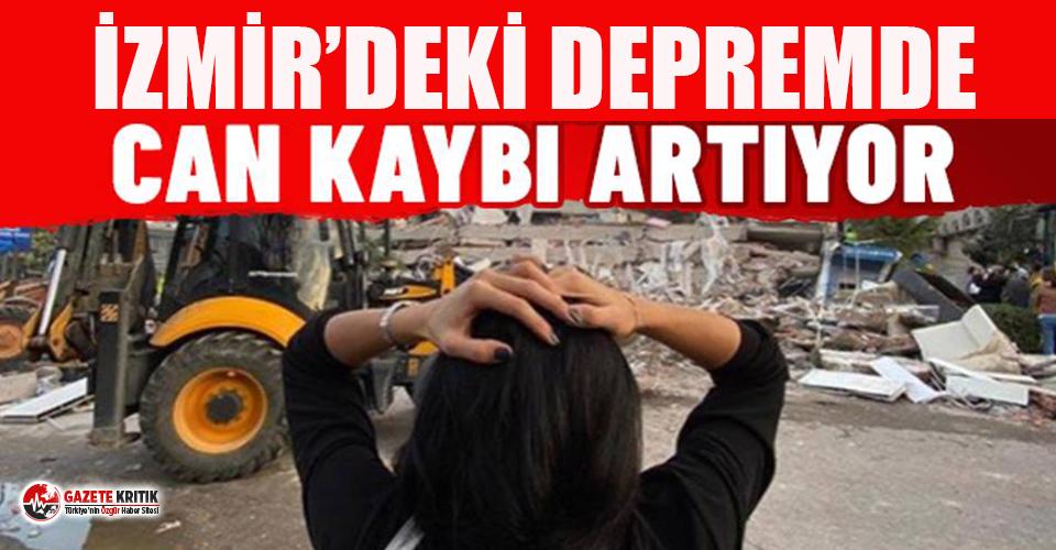 İzmir'deki depremde can kaybı 83 oldu