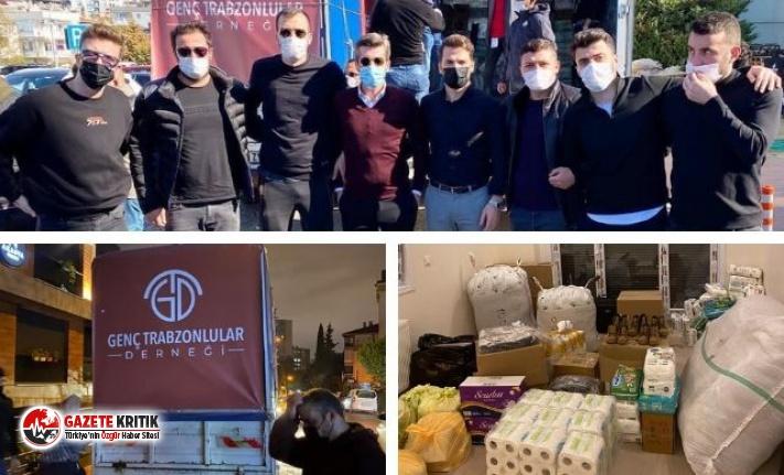 İzmir'deki depremzedelere 'Genç Trabzonlular'dan yardım eli
