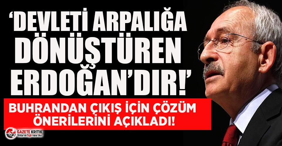 Kemal Kılıçdaroğlu: Devleti arpalığa dönüştüren Erdoğan'dır