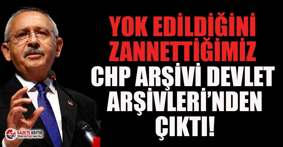 Kılıçdaroğlu:  Yok edildiğini zannettiğimiz CHP arşivi, Devlet Arşivleri'nden çıktı