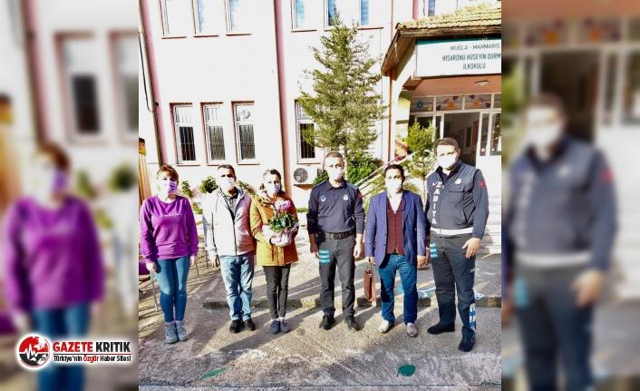 Marmaris Belediye Başkanı Mehmet Oktay, öğretmenleri unutmadı