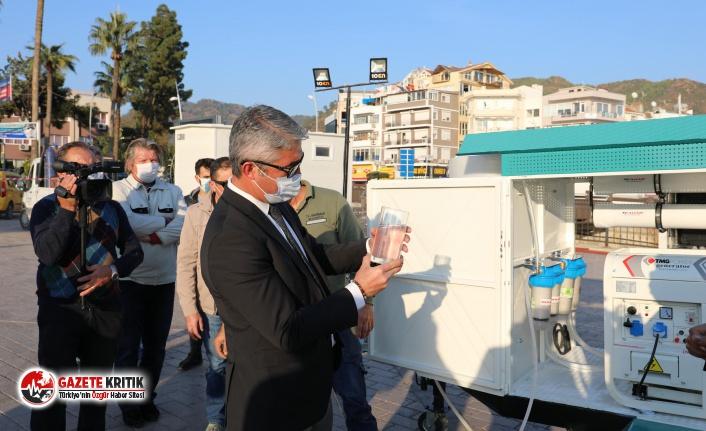 Marmaris Belediyesi'nde bir ilk: Afette su sıkıntısı olmayacak!