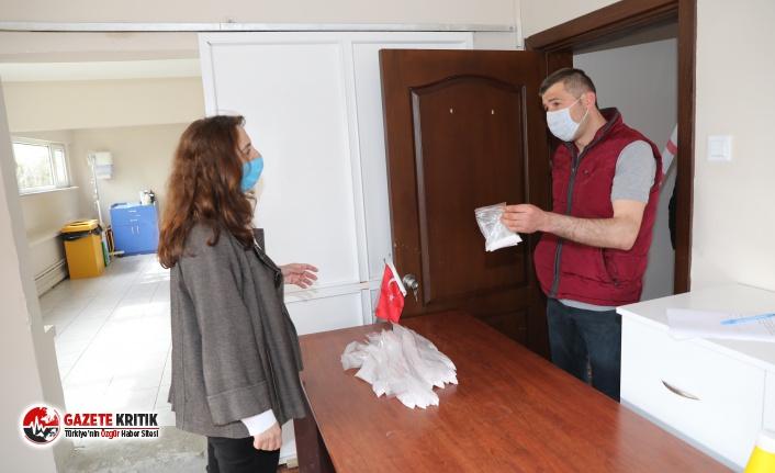 Mudanya Belediyesi'nden ücretsiz dezenfektan