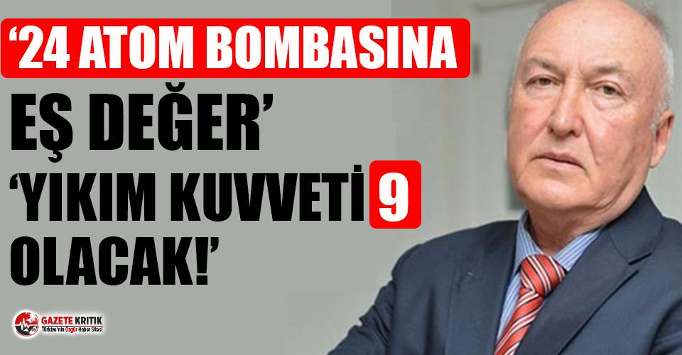 """Prof. Dr. Övgün Ahmet Ercan """"yıkımı çok büyük olacak diyerek"""" uyardı!"""
