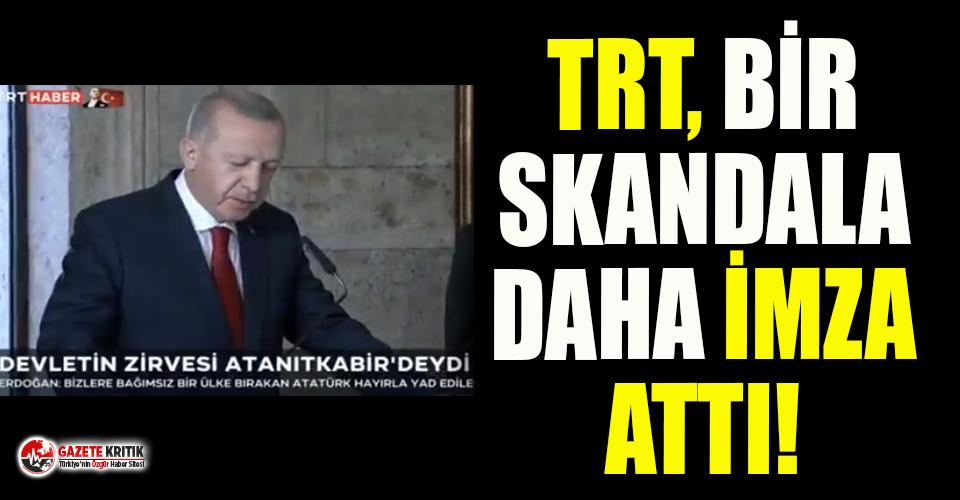 TRT'de 10 Kasım skandalı!
