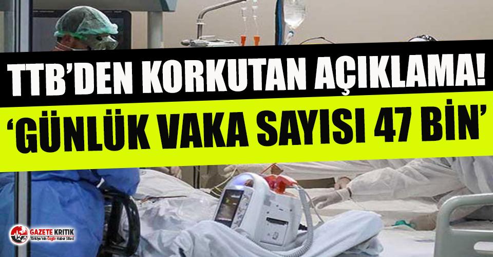 Türk Tabipleri Birliği'nden korkutan açıklama: Günde 47 bin 629 korona vakası var