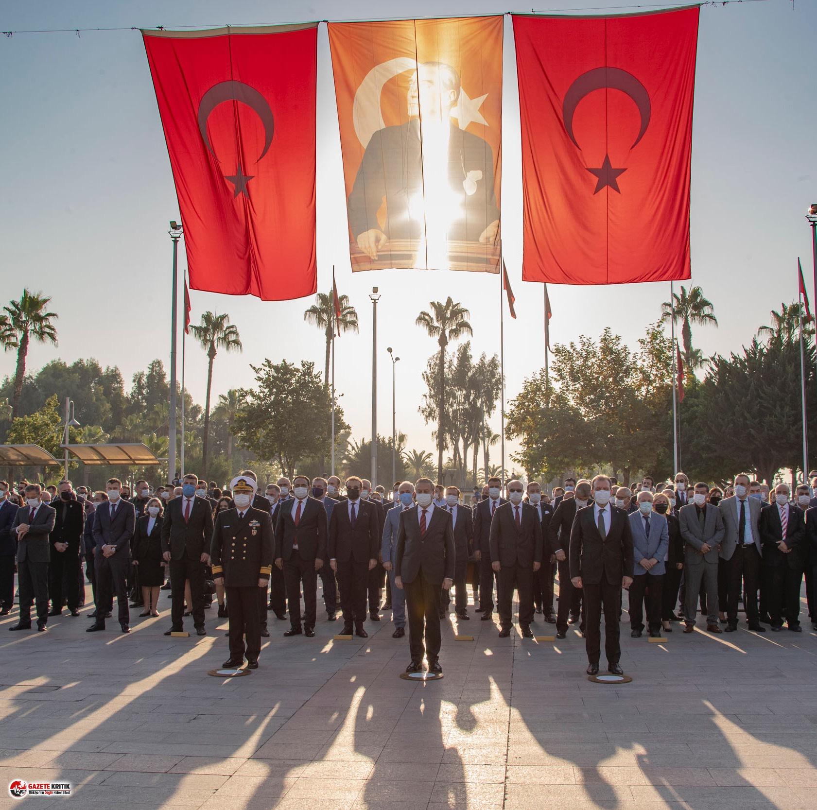 Ulu Önder Atatürk Mersin'de de saygı ve özlemle anıldı