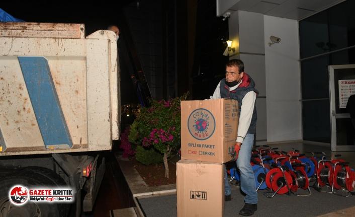 Yenişehir'den İzmir'e yardım eli