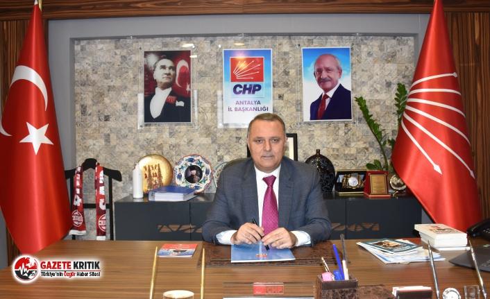 CHP Antalya İl Başkanı Nusret Bayar: Hükümet asgari ücretliyi açlığa mahkum etti