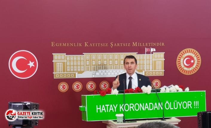 CHP'li Serkan Topal'dan Tabutlu çağrı: Hatay Yaşasın Koronodan  Ölmesin!
