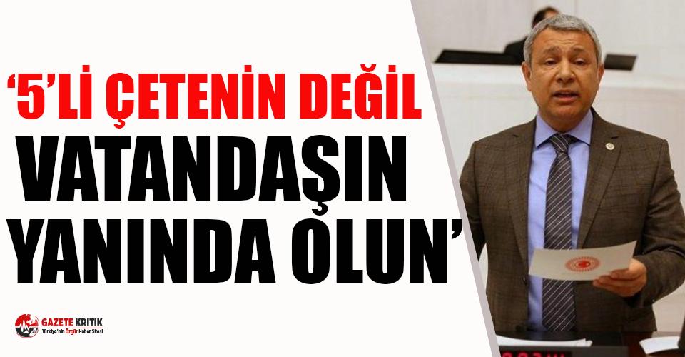 CHP'li Sümer: Saraydan değil sokaktan bakın!