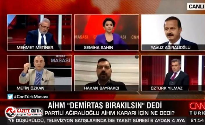 CNN Türk'te gergin anlar: Hakan Bayrakçı yayını terk etti