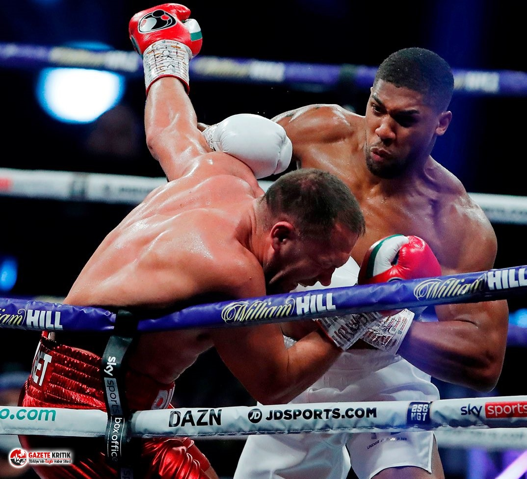 İngiliz boksör Anthony Joshua rakibini yenerek ağır sıklet unvanlarını korudu!