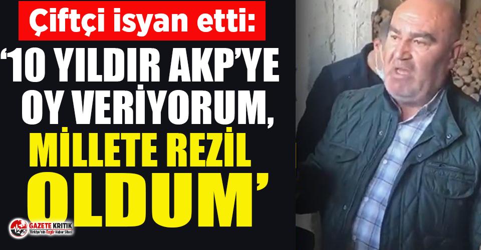 """AKP'li olduğunu söyleyen çiftçi isyan etti: """"Allah çarpsın battık!"""""""