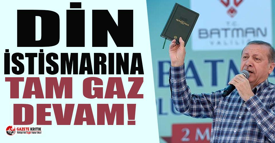 AKP'yi takip edene 'Kuran-ı Kerim' hediye, yanında da Erdoğan...