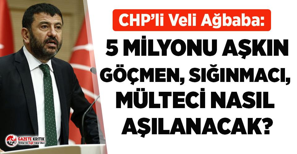 CHP'li Ağbaba: 5 milyonu aşkın göçmen, sığınmacı, mülteci nasıl aşılanacak?