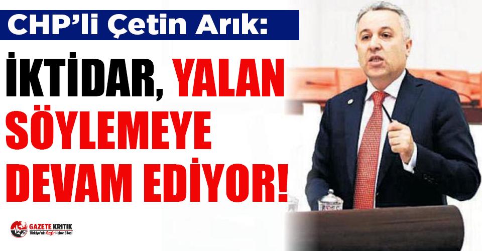 CHP'li Arık: Yandaşa para çok, sağlık çalışanlarına para yok!