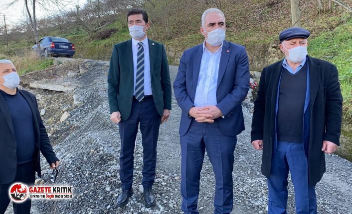 CHP'li Kaya Arsin heyelan bölgesinde: 'Bir an önce karar verimeli'