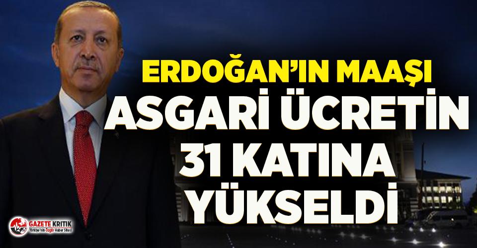Erdoğan 1 ayda 31 asgari ücret alacak