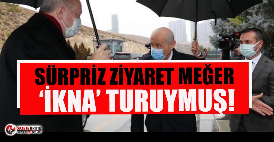 Erdoğan'ın ziyareti ''Bahçeli'yi ikna turu'' muydu ?